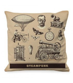 Cushion with Designs of Steam Punk