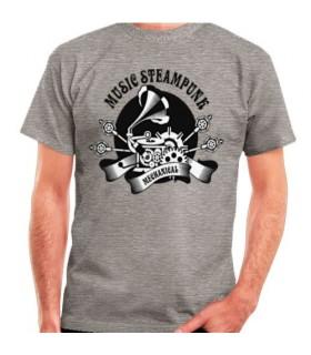 T-shirt Grey SteamPunk, short sleeve