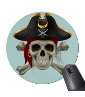 Mouse Mat Mouse Round Skull Pirate