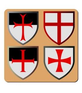 Magnet 4 Crosses Knights Templar (7,4 x 7,4 cm.)