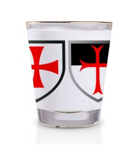 Shot glass Crosses Templars