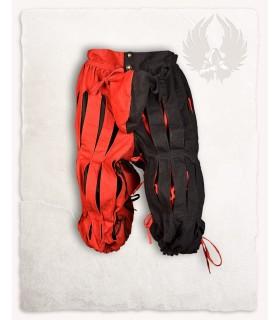 Pant Mercenary Lansquenete, red, black