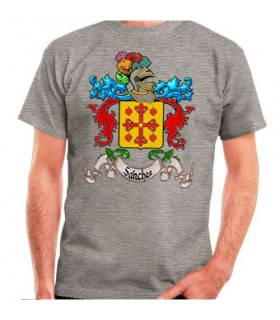 Custom T-Shirt with Heraldic Shield 1 Surname