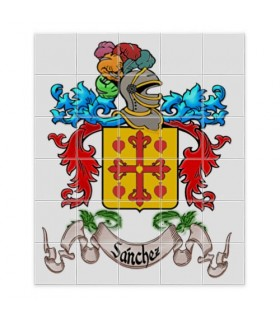Mosaic Tiles Heraldic Shields 1 Last name (without a background)