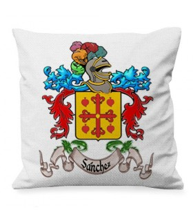 Cushion custom Heraldic Shield 1 Last name (COLORED)
