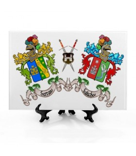 Tile Coats of Arms with 2 Surnames (30x20 cms.)