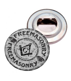 Opens-bottles Plate with Magnet, Masonic