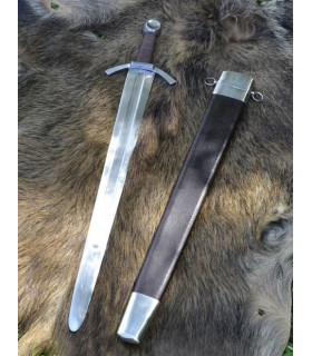 Medieval sword of a hand, wide blade