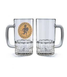 Beer mug Glass Warrior Hoplita Griego