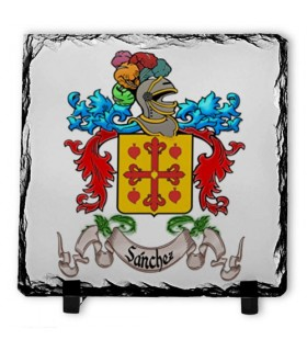 Heraldic shield 1 Last name on Stone Slate (20x20 cms.)