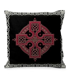 Cushion with symbol of the Celtic Cross