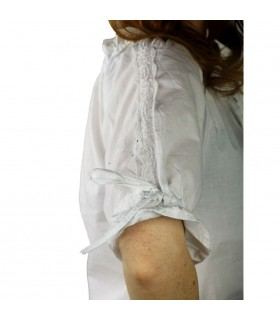 Blouse medieval white ties