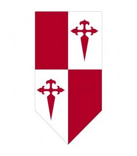 Banner medieval Quartered Cross of Santiago