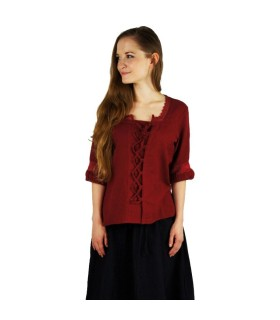 Blouse medieval ties, red