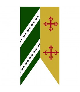 Standard Two-Tone Green-Mustard Crosses Medieval