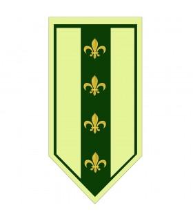 Banner Medieval Green fleur-de-Lis