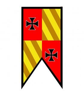 Banner Medieval Quartered peaks Templars Crosses