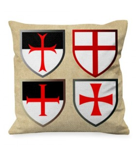 Cushion with Templars Crosses