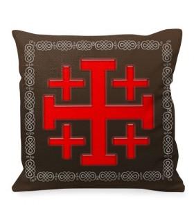 Cushion Cross of Jerusalem Knights Templar