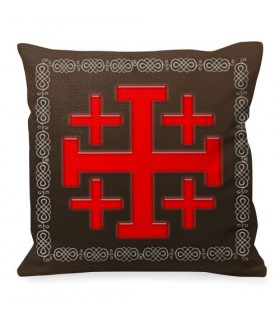 Cushion Cross of Jerusalem Knights Templar