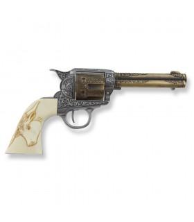 Revolver Colt 45 PeaceMaker grips buffalo, 27 cms.