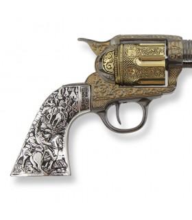 Revolver Colt 45 PeaceMaker short-handled metal, 27 cm.