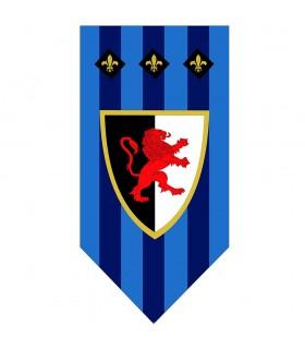 Banner Medieval fleur-de-Lis and Lion Rampant