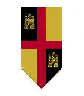 Banner Medieval Cross with Castles