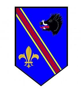 Banner Medieval Boar with fleur-de-lis