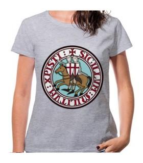T-shirt Woman Grey Knights Templars, short sleeve
