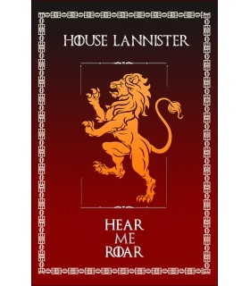 Banner Game of Thrones House Lannister (75x115 cm.)