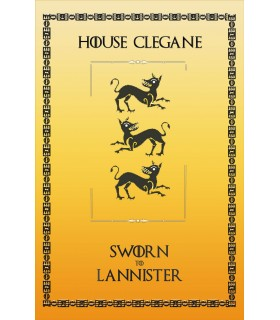 Banner Game of Thrones House Clegane (75x115 cm.)