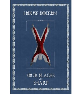 Banner Game of Thrones House Bolton (75x115 cm.)