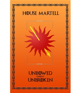 Banner Game of Thrones House Martell (75x115 cm.)