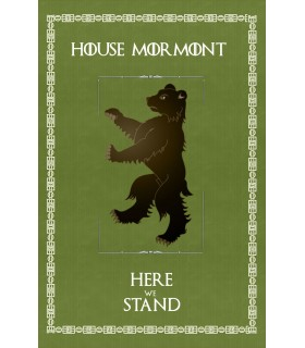 Banner Game of Thrones House Mormont (75x115 cm.)