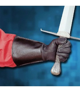 Gloves, medieval leather