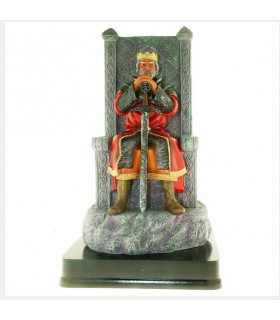 Miniature of King Arthur on his throne, to 12 cm.