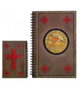 Agenda notes with the seal of the Knights Templar