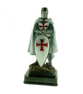Miniature Knight Templar with Shield, 23 cms.