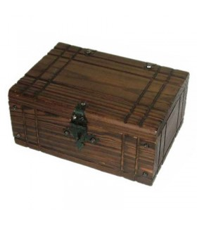 Chest Medieval wood with hardware (25x17 cms.)
