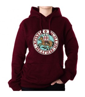 Sweatshirt Garnet Knights Templar with Hood