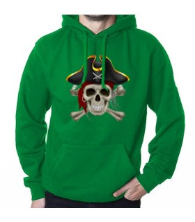 Sweatshirt Pirate Green, with Hood