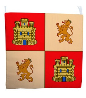Cushion base chairs Medieval. Shield of Castile-León (40x40 cms.)