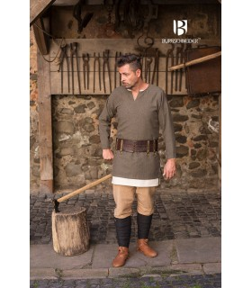 Short tunic Tyr, olive green-grey
