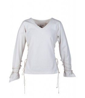 Blouse medieval Aila, natural white