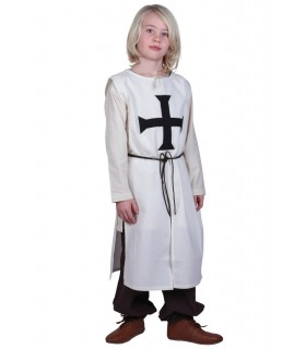 Tabard child Teutonic, natural white