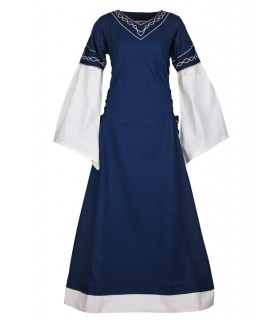 Dress medieval Alvina, blue-white