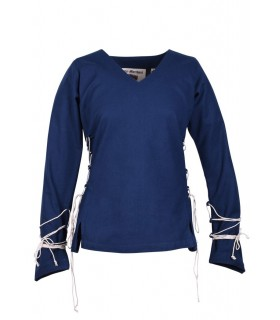 Blouse medieval Aila, blue