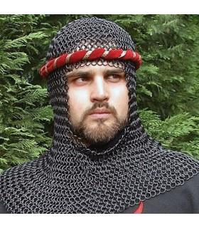 Headdress medieval black steel