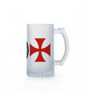 Beer mug Knights Templar, crystal translucent
